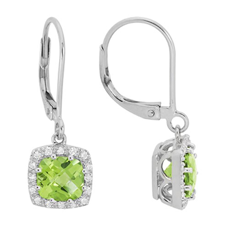Peridot Lever Back Earrings