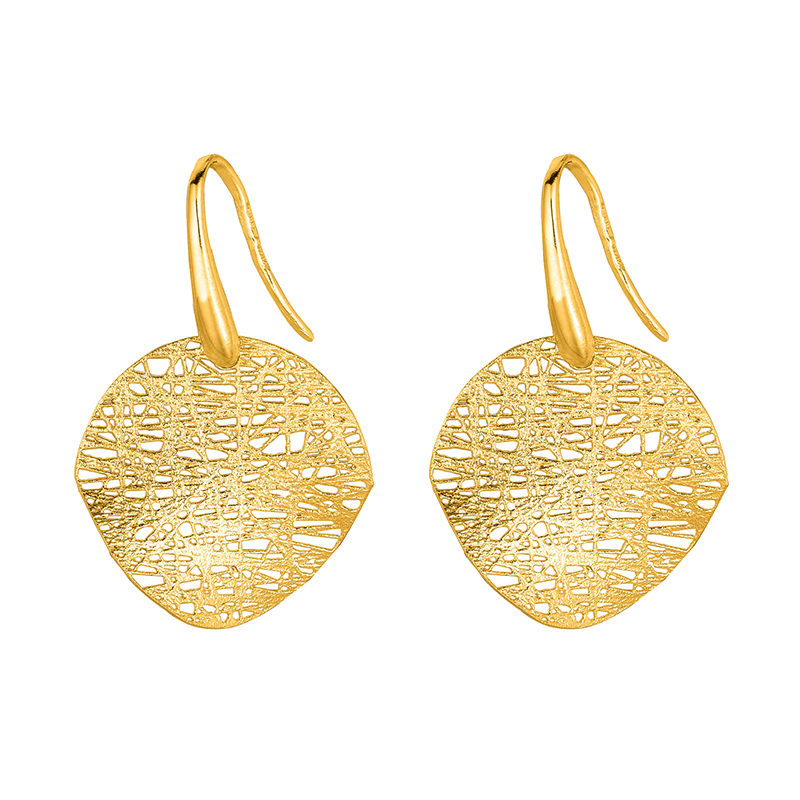 Threaded Disc Earrings