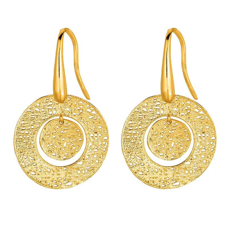 Double Threaded Disc Earrings
