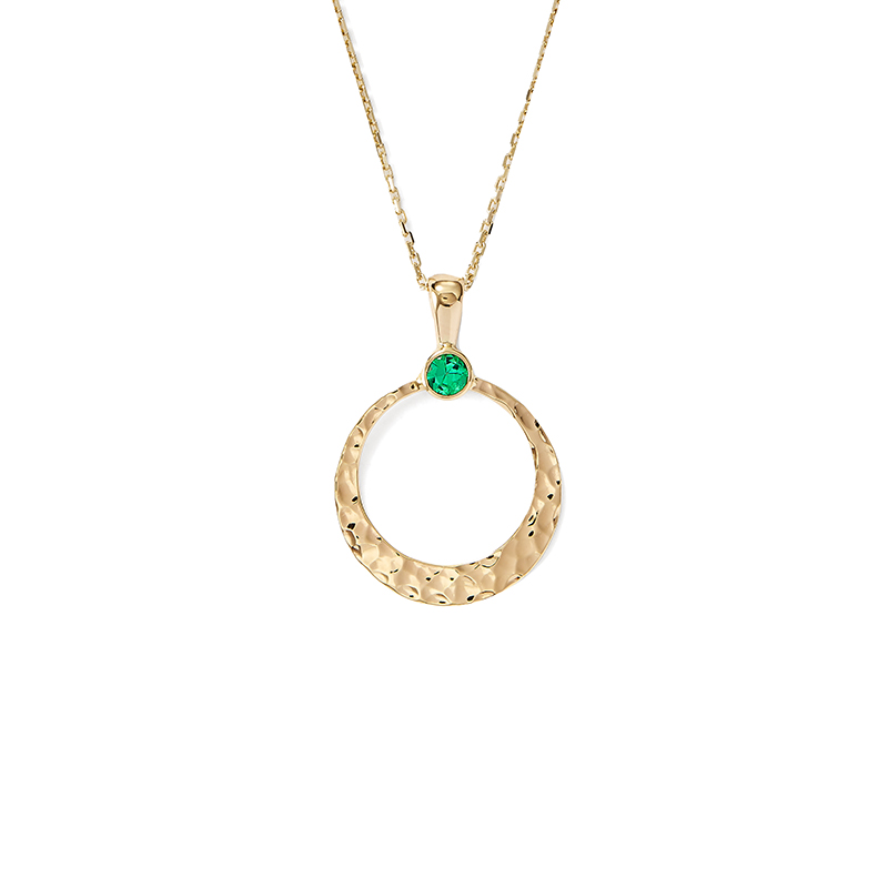 Emerald Crescentic Pendant