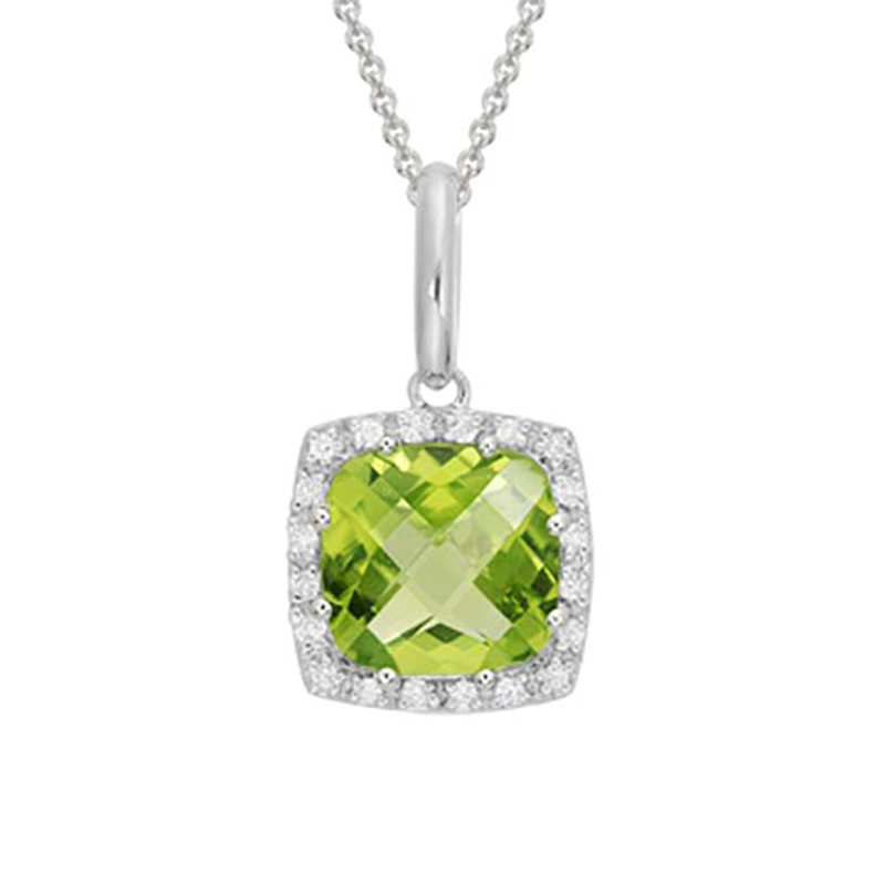 Cushion Cut Peridot Pendant