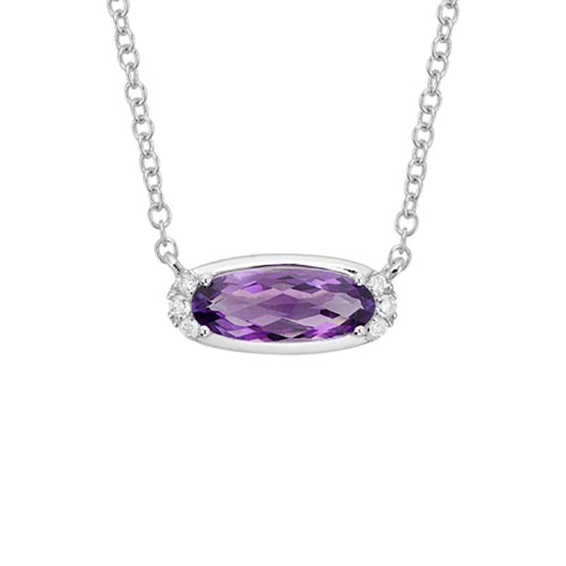 Amethyst East-West Necklace