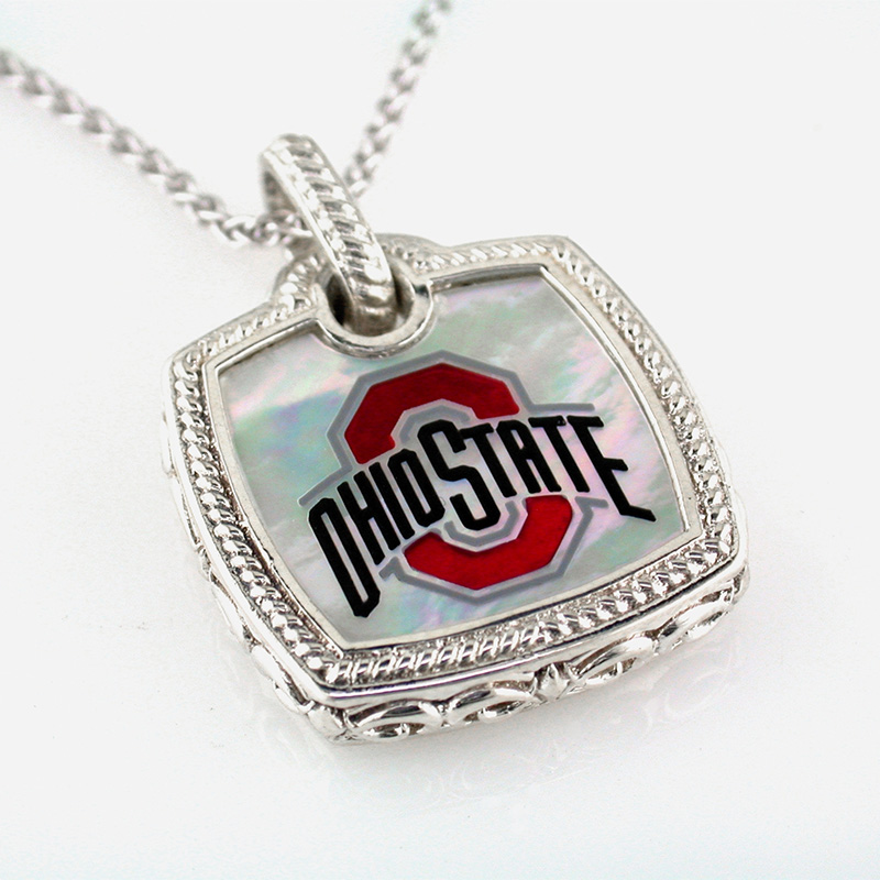 OSU Mother of Pearl Cushion Shape Pendant