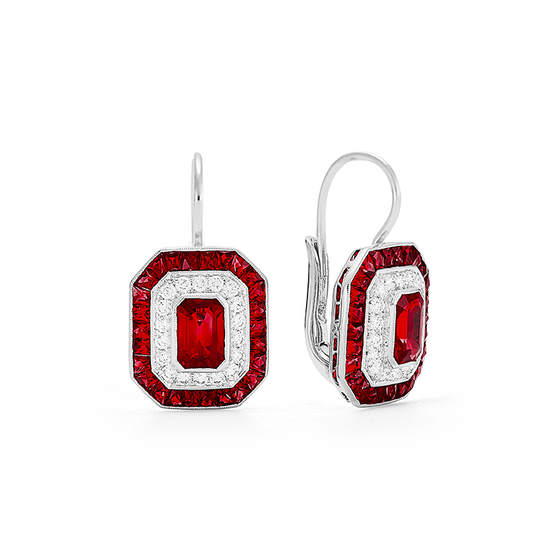 "Art Deco ""Block O"" Earrings"