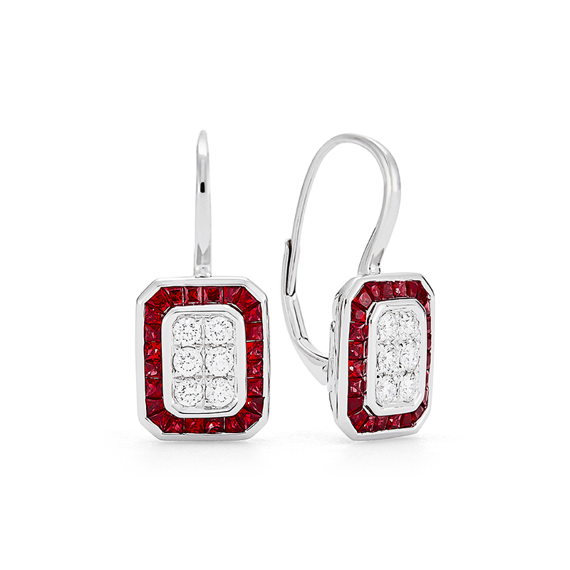 "Modern ""Block O"" Earrings"