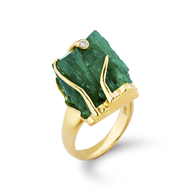 Rough Emerald Ring