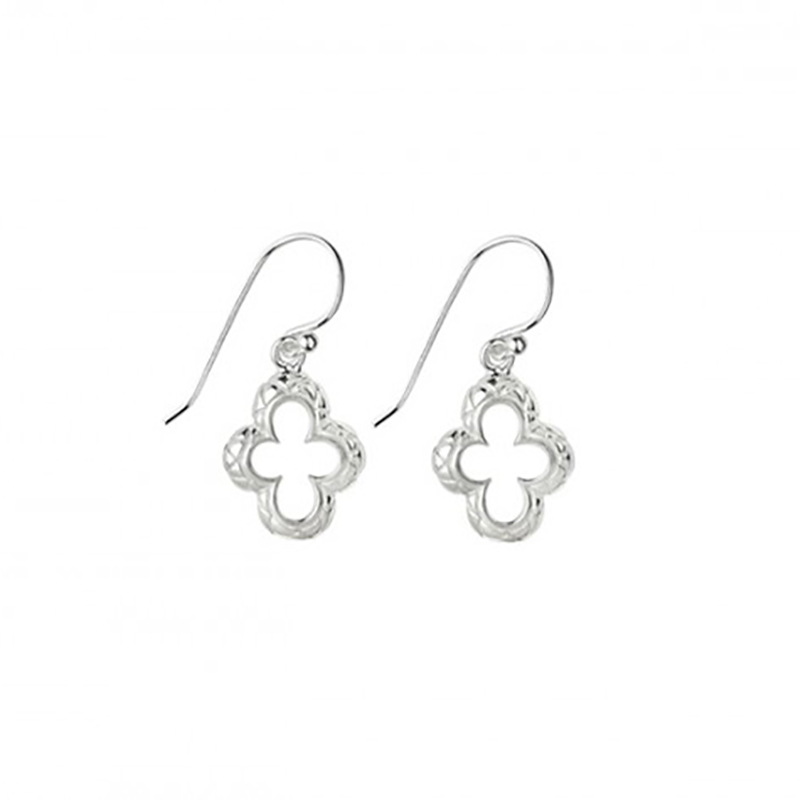 Quilted Quatrefoil Earrings
