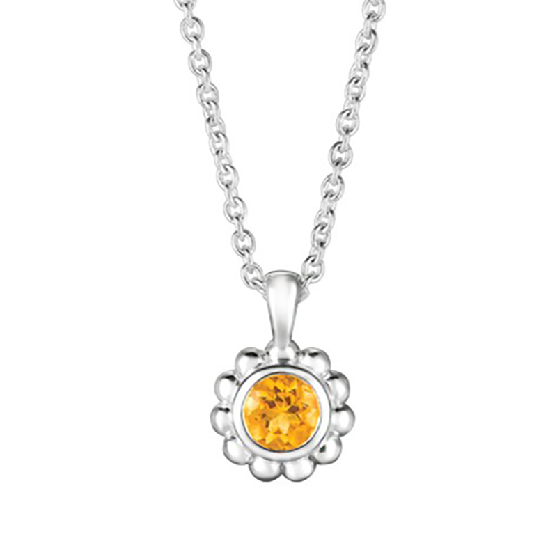 Citrine Beaded Pendant