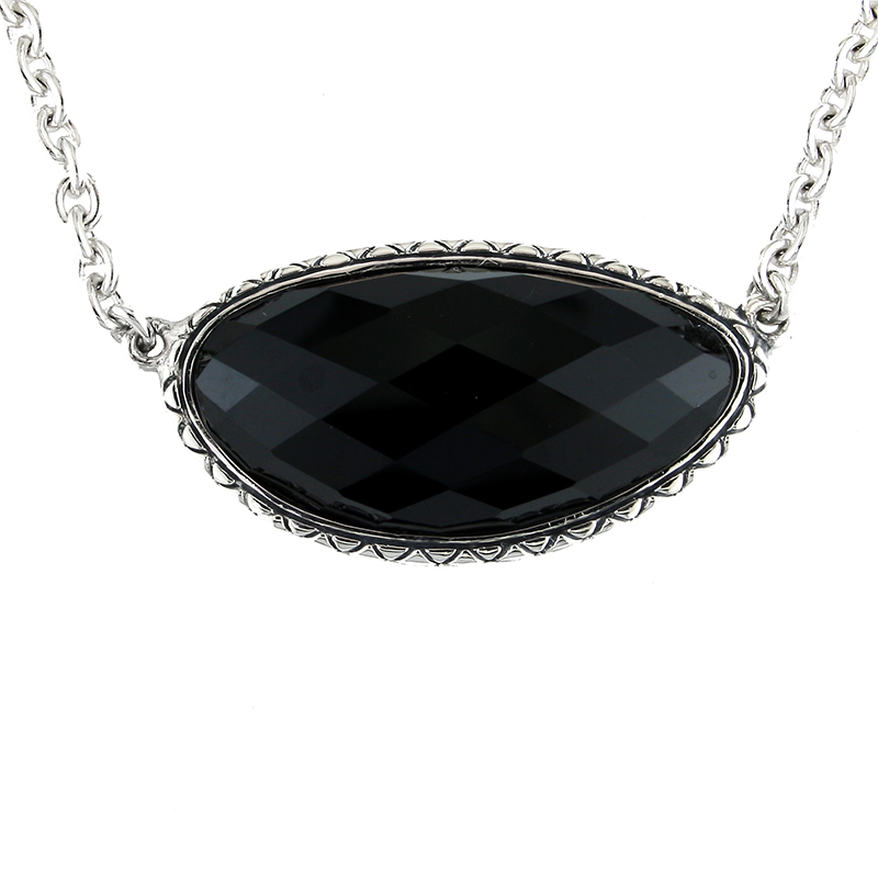 Sterling Onyx Pendant