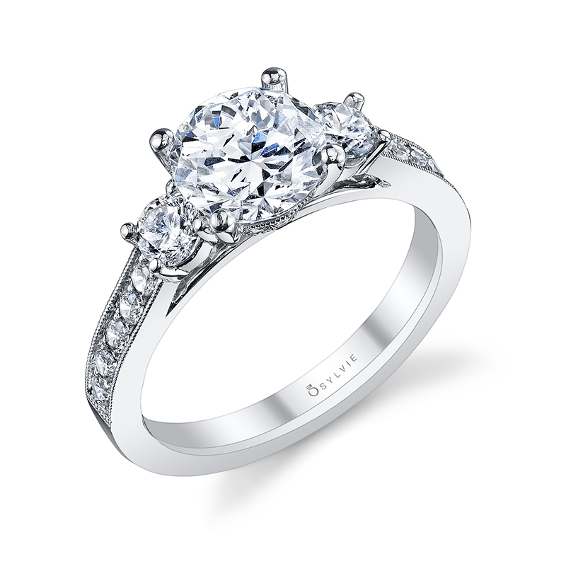 Classic Three Stone Diamond Engagement Ring