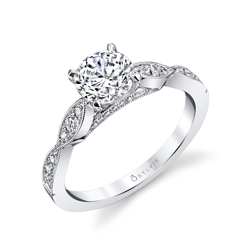 Unique Cathedral Diamond Engagement Ring