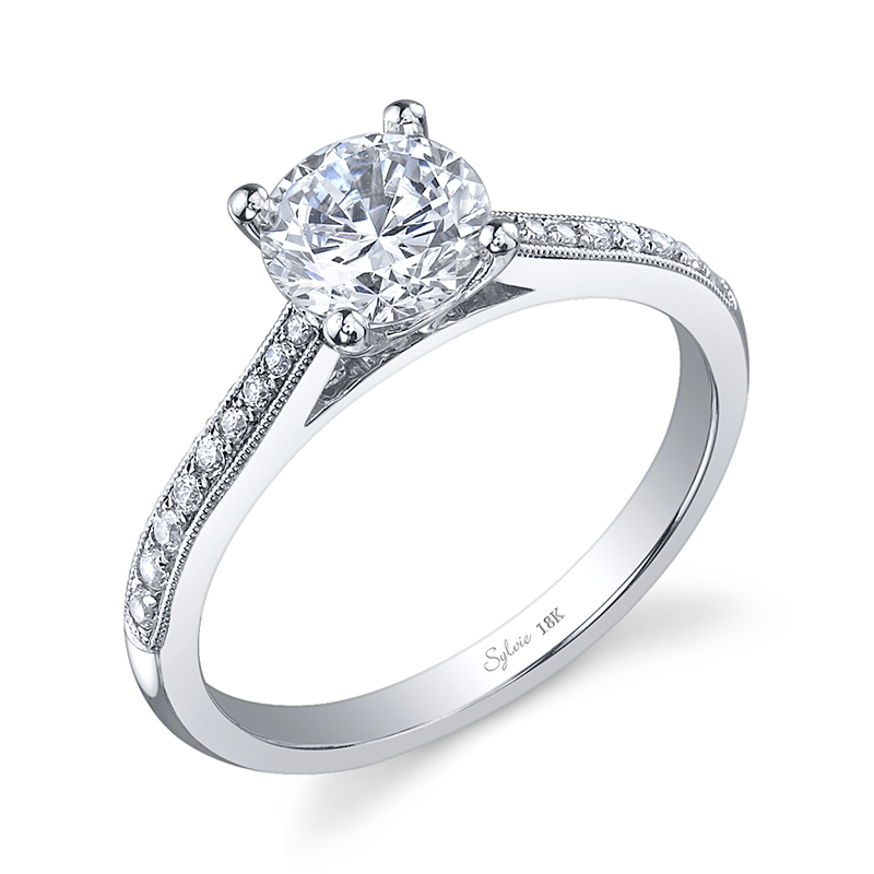 Petite Taper Diamond Engagement Ring