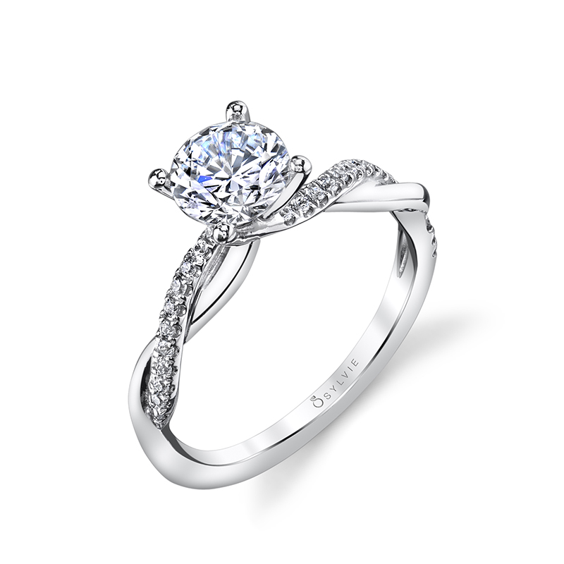 Modern Twist Diamond Engagement Ring