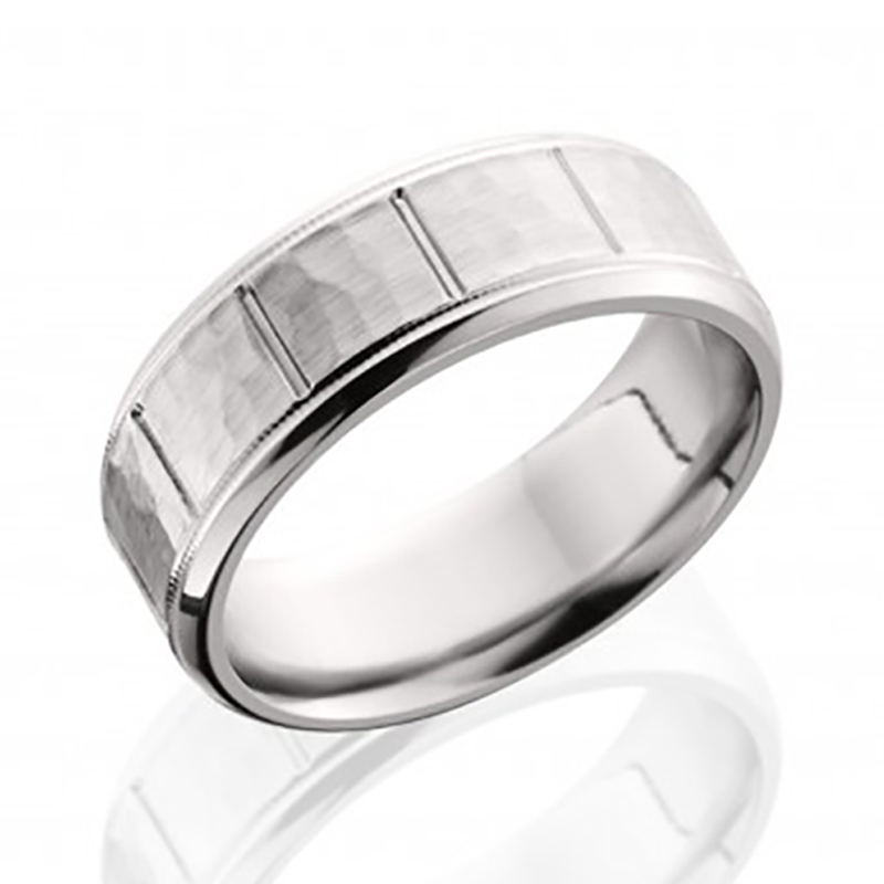 Chrome Hammered Segment Ring