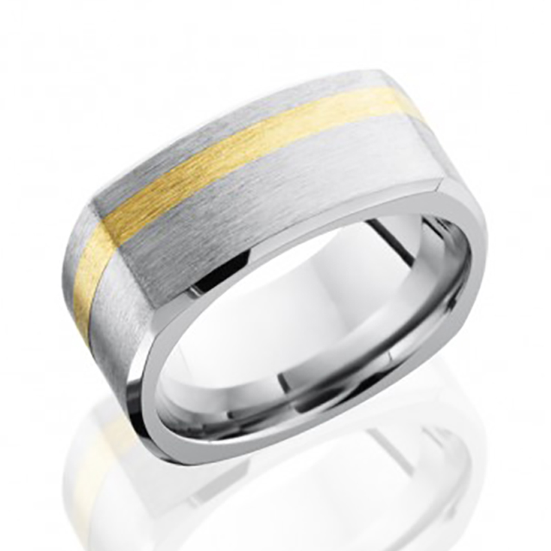 Chrome & 14K Squared Band