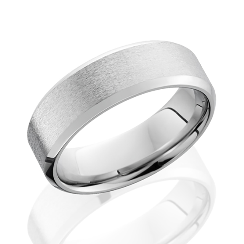 Cobalt Chrome Beveled Band