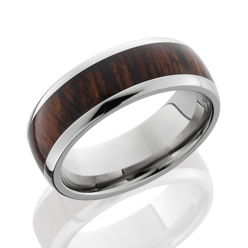Titanium Cocobolo Wood Band