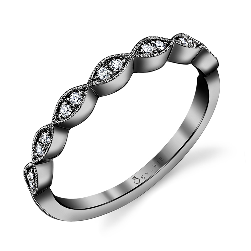 Marquise Shape Stackable Band