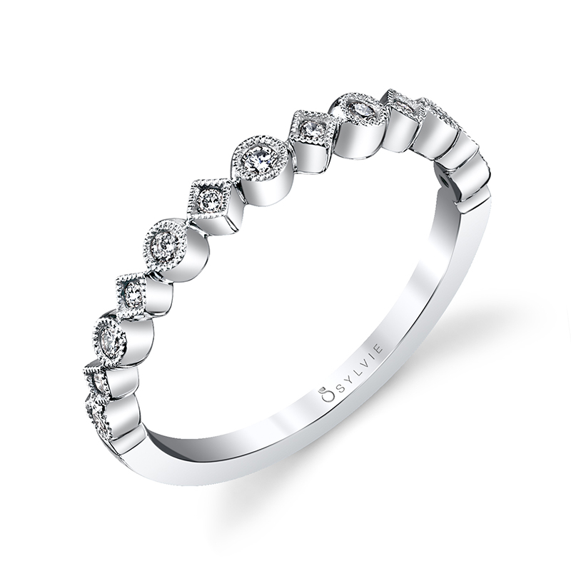 Mixed Shape Stackable Diamond Band