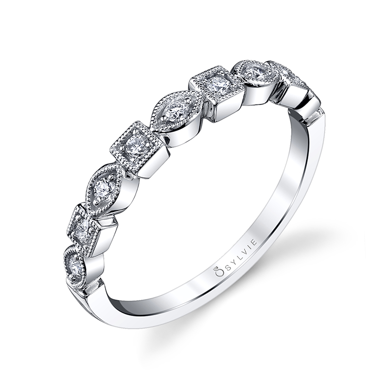 Square and Marquise Stackable Band
