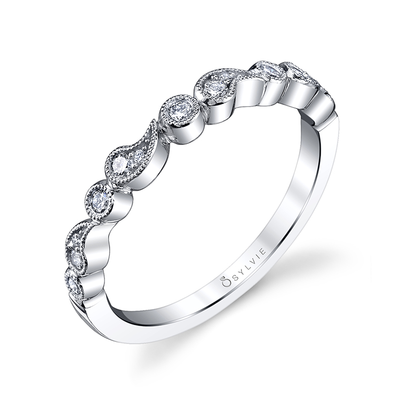 Paisley Stackable Diamond Band