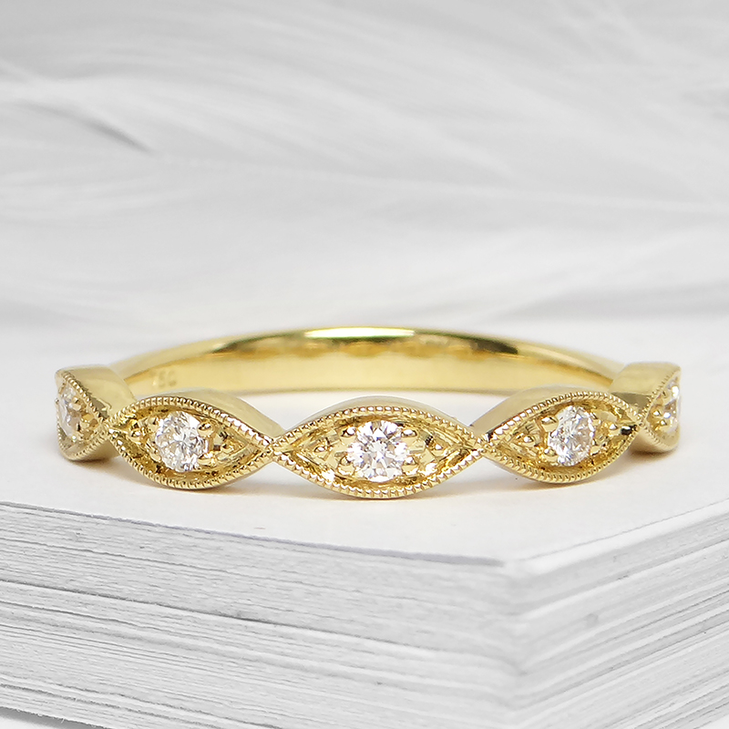 Marquise Stackable Diamond Band