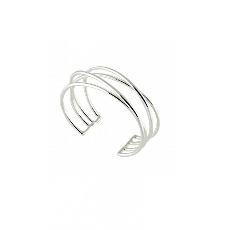 Sterling Double Crossed Cuff