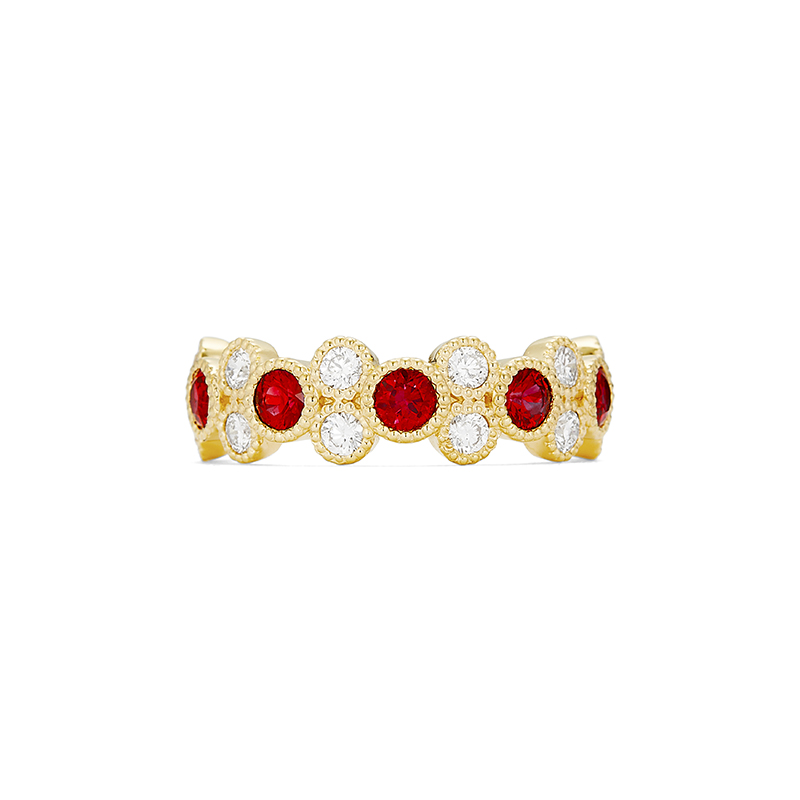 Bead Set Ruby Ring