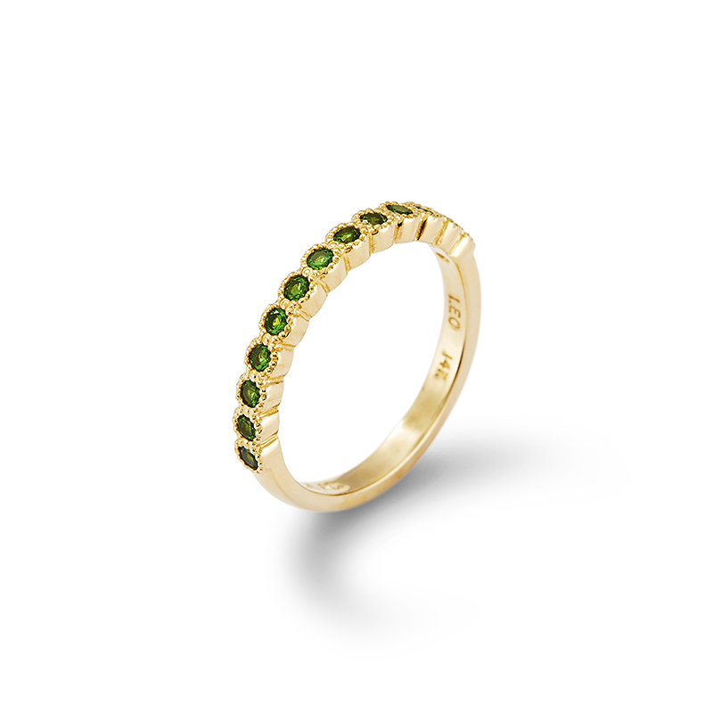 Tsavorite Garnet Stackable Ring