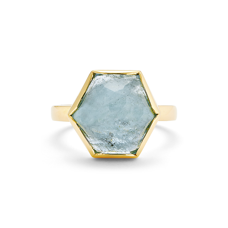Hand Fabricated Aquamarine Ring