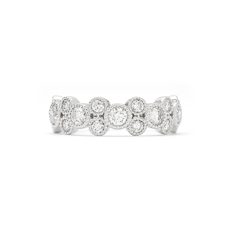Bead Set Diamond Ring